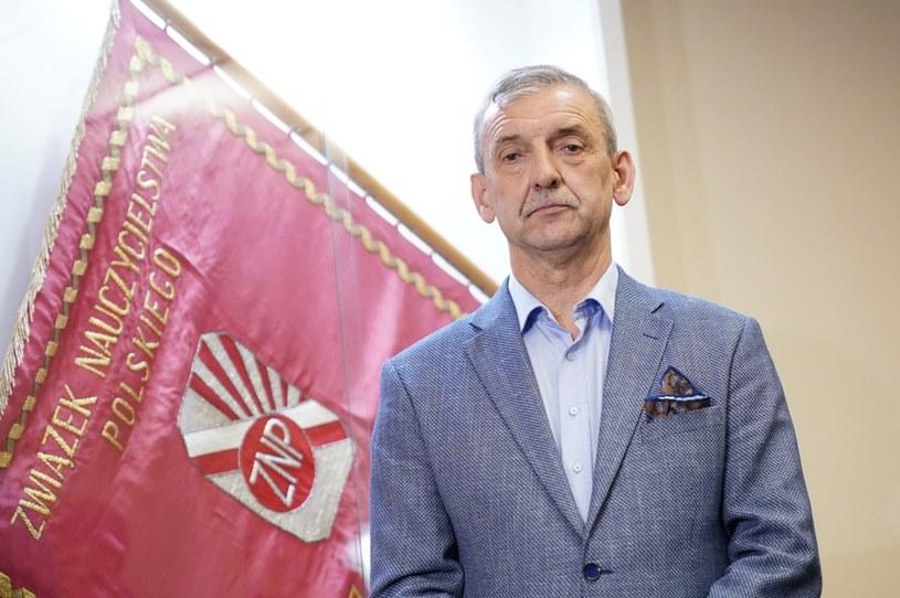 Prezes Związku Nauczycielstwa Polskiego Sławomir Broniarz /Mateusz Wlodarczyk /Agencja FORUM