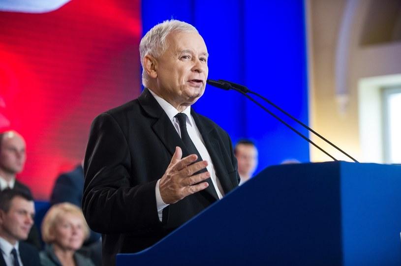 Prezesa Prawa i Sprawiedliwości podczas konwencji Solidarnej Polski /Bartosz Krupa /East News