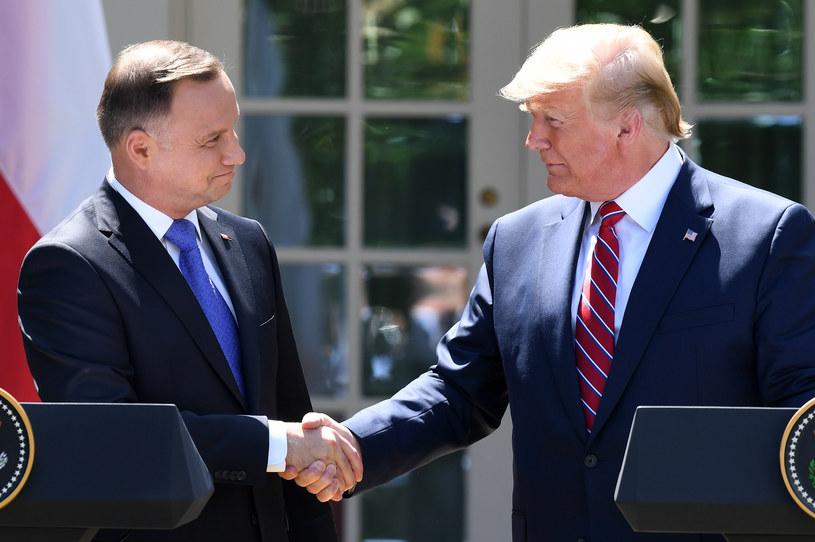 Prezydenci Andrzej Duda i Donald Trump /AFP