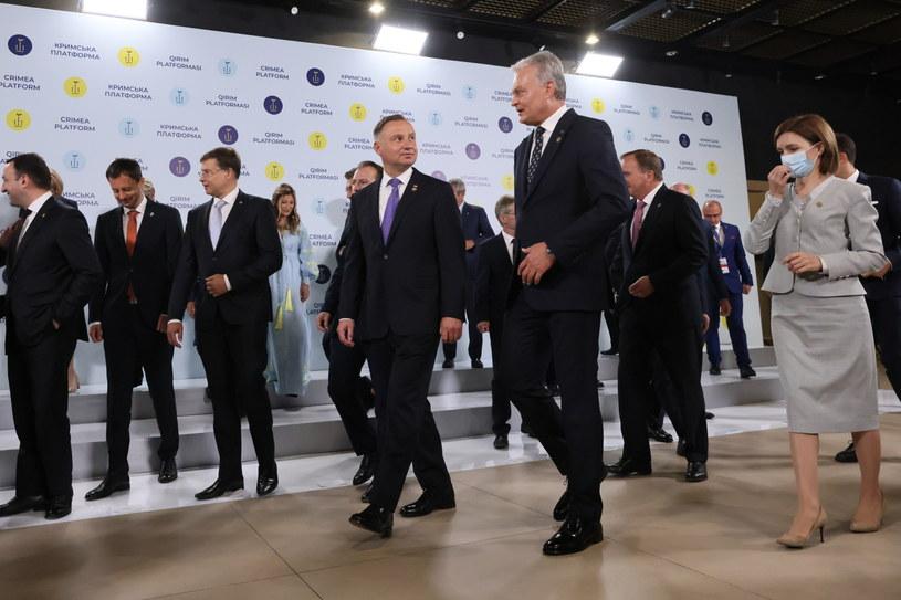 Prezydenci Andrzej Duda i Gitanas Nauseda na szczycie w Kijowie / Leszek Szymański    /PAP