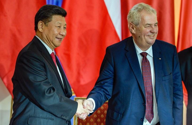 Prezydenci Czech i Chin podpisali porozumienie o strategicznym partnerstwie między krajami /FILIP SINGER /PAP/EPA
