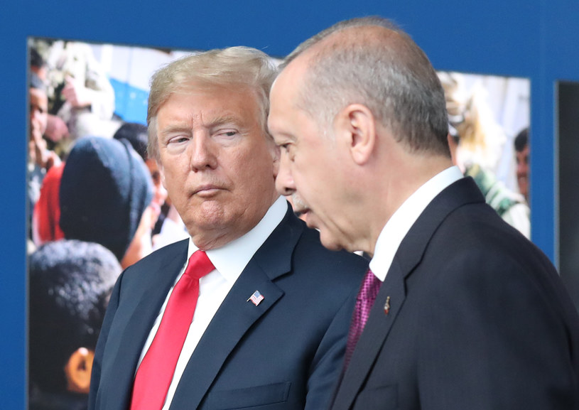 Prezydenci Donald Trump i Recep Tayyip Erdogan /TATYANA ZENKOVICH  /AFP