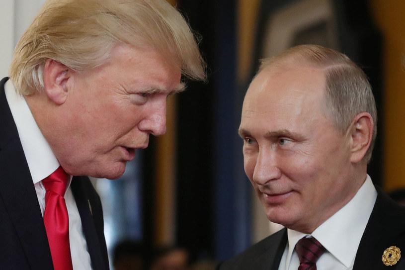 Prezydenci Donald Trump i Władimir Putin /MIKHAIL KLIMENTYEV / SPUTNIK / /AFP
