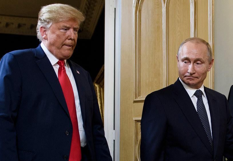 Prezydenci Donald Trump i Władimir Putin /Brendan Smialowski /AFP