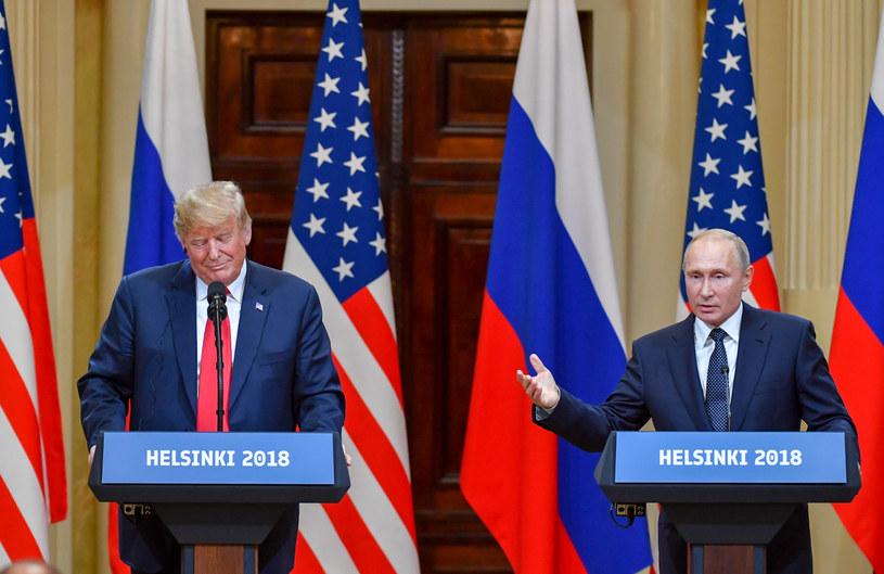 Prezydenci Donald Trump i Władimir Putin /Yuri Kadobnov /AFP