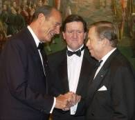 Prezydenci Francji i Czech oraz sekretarz generalny NATO /RMF24.pl