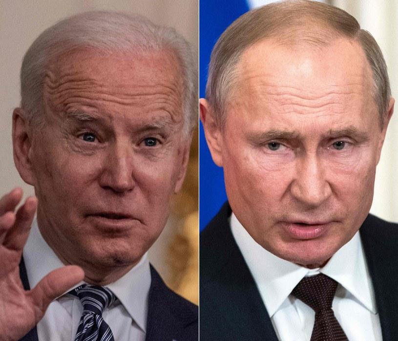 Prezydenci Joe Biden i Władimir Putin /AFP