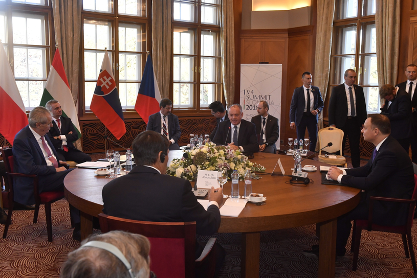 Prezydenci krajów Grupy Wyszehradzkiej spotkali się na Słowacji /ZOLTAN MATHE /PAP/EPA