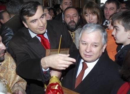 Prezydenci Polski i Gruzji /AFP