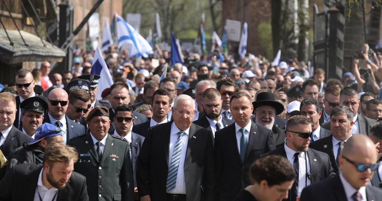 Prezydenci Polski i Izraela na czele Marszu Żywych