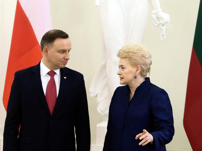 Prezydenci Polski i Litwy: Andrzej Duda i Dalia Grybauskaite /Petras Malukas / AFP /AFP