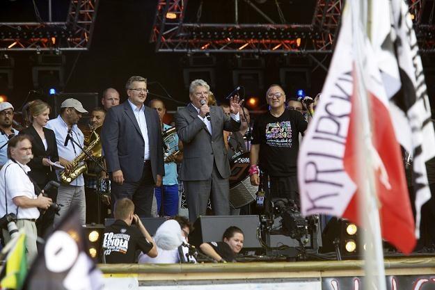 Prezydenci Polski i Niemiec na Przystanku Woodstock, fot. Lech Muszyński /PAP
