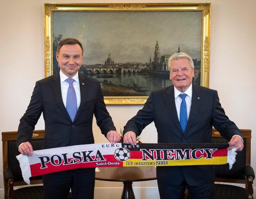 Prezydenci Polski i Niemiec /PAP/EPA