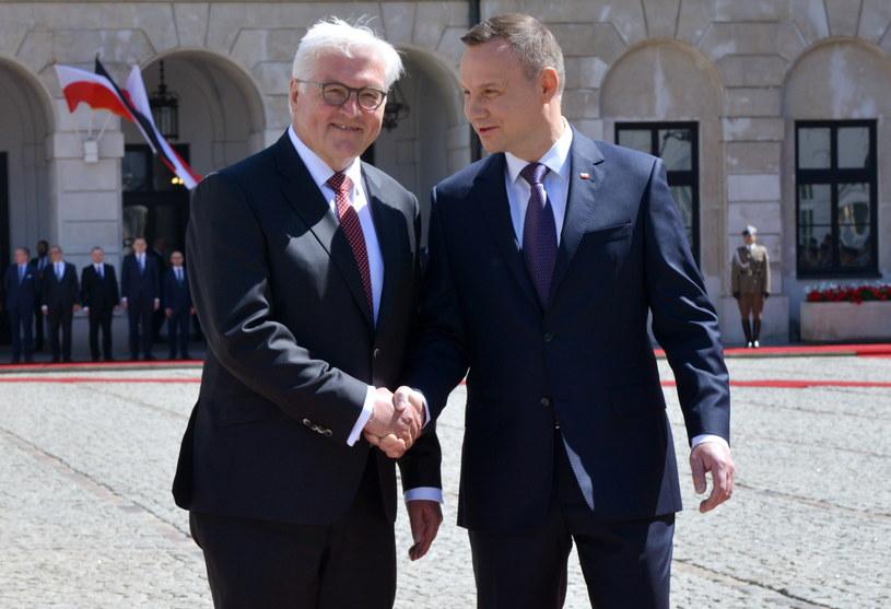 Prezydenci Polski i Niemiec /Jacek Turczyk /PAP