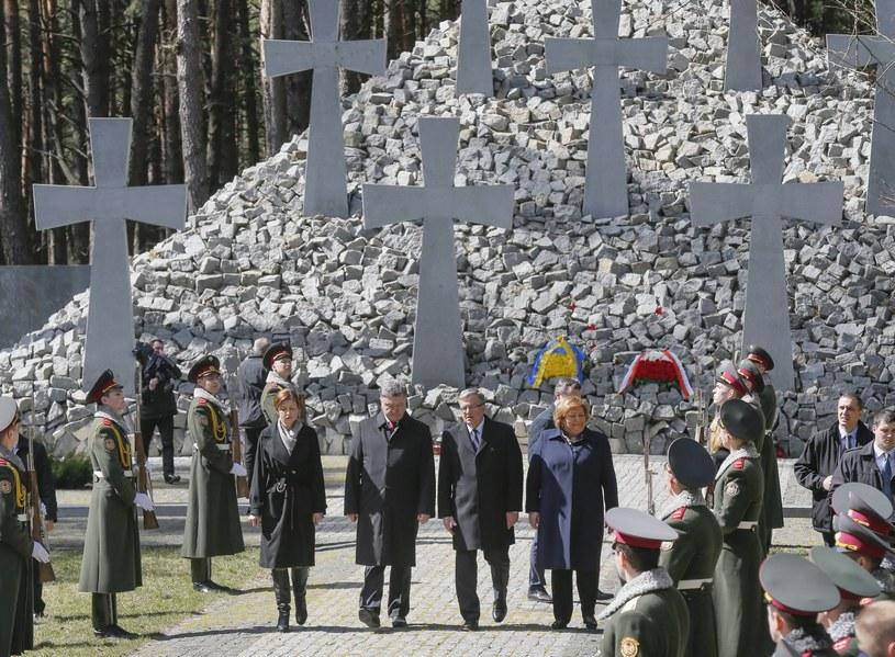 Prezydenci Polski u Ukrainy w Bykowni /PAP/EPA