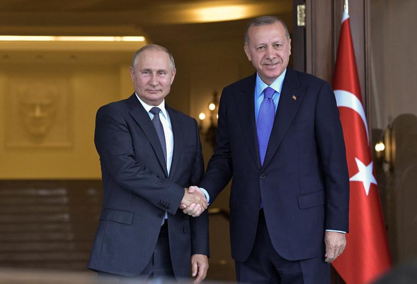 Prezydenci Rosji i Turcji, Władimir Putin i Recep Tayyip Erdogan /SPUTNIK Russia /East News