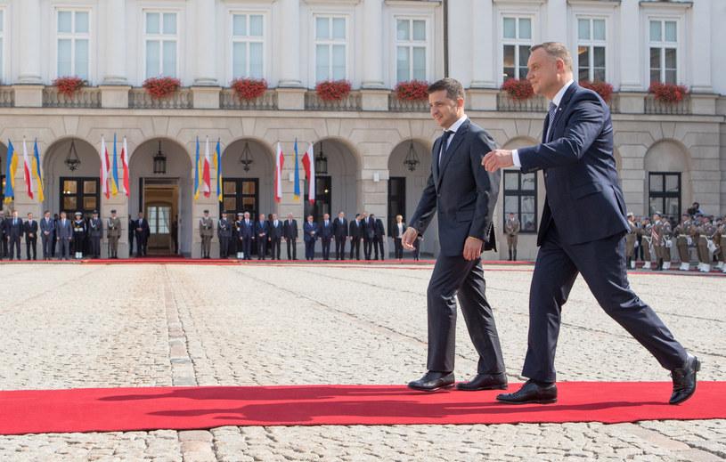 Prezydenci Ukrainy i Polski w Warszawie (arch.) /Tomasz Jastrzębowski /Reporter