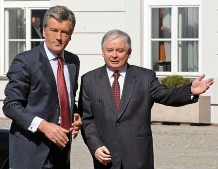 Prezydenci Ukrainy Wiktor Juszczenko i Polski Lech Kaczyński /AFP