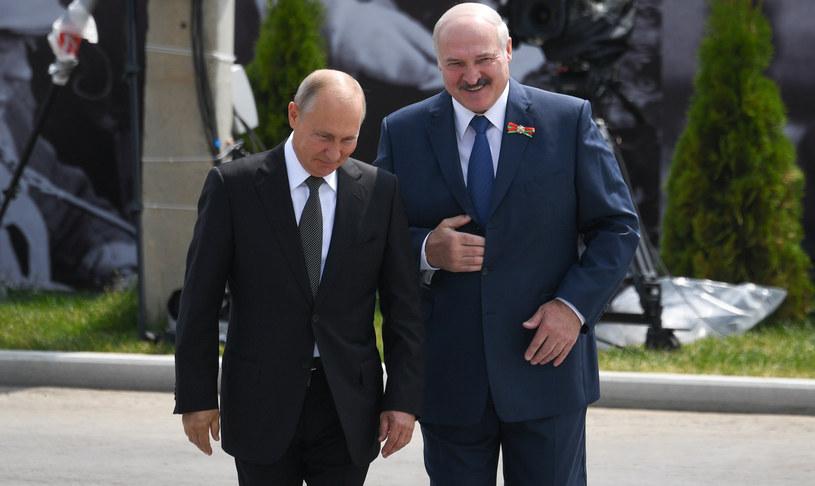 Prezydenci Władimir Putin i Alaksander Łukaszenka /Grigory Sysoev/SPUTNIK Russia /East News