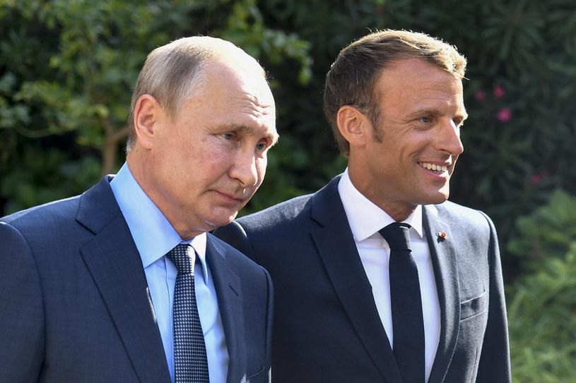 Prezydenci Władimir Putin i Emmanuel Macron /GERARD JULIEN /AFP