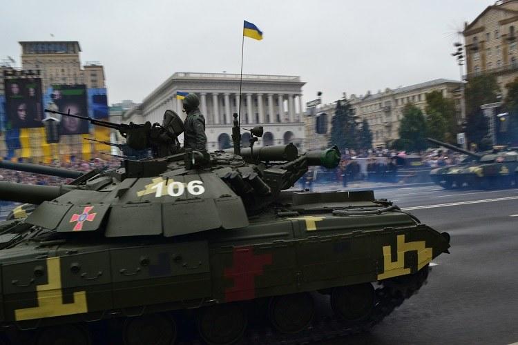 Prezydenci wzięli udział w obchodach na kijowskim Majdanie Niepodległości /Paweł Balinowski /RMF FM