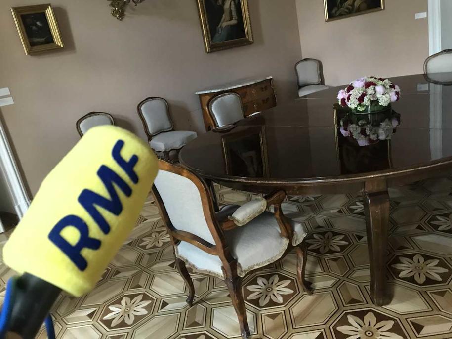 Prezydencka jadalnia. To tutaj na obiady zapraszani są najważniejsi goście /Michał Dobrołowicz /RMF FM