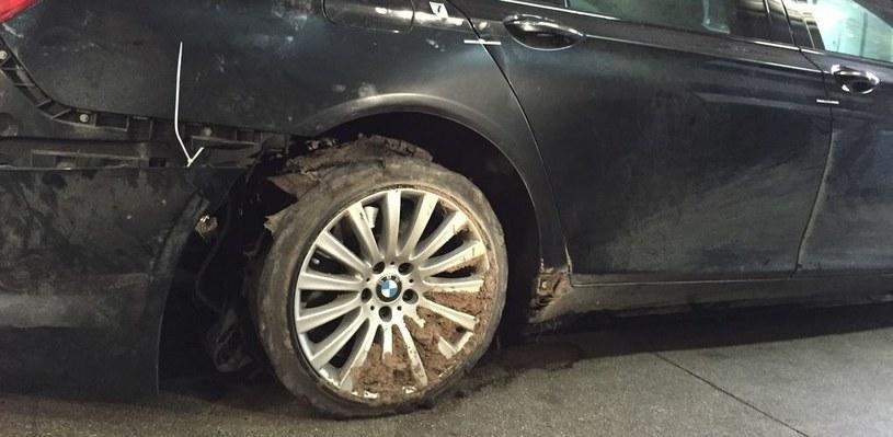 Prezydencka limuzyna po wypadku na A4 /Krzysztof Zasada /RMF FM