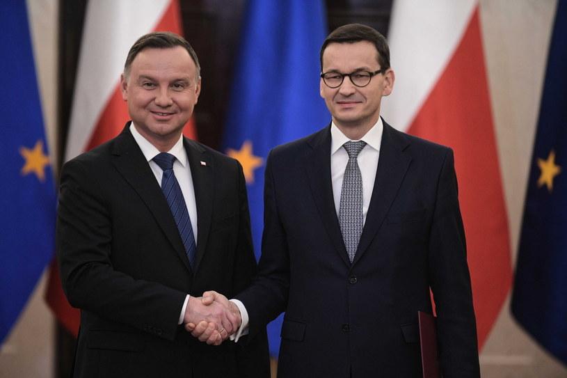 Prezydent Andrzej Duda desygnuje na premiera dotychczasowego szefa rządu Mateusza Morawieckiego / Marcin Obara  /PAP