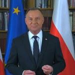 Prezydent Andrzej Duda do Białorusinów: Nigdy nie przestaniemy was wspierać
