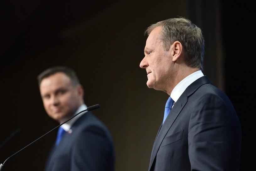 Prezydent Andrzej Duda i Donald Tusk /Mateusz Jagielski/East News /East News