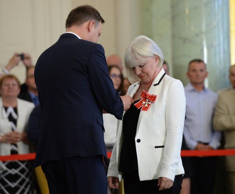 Prezydent Andrzej Duda i Elżbieta Królikowska-Avis /Jacek Turczyk /PAP