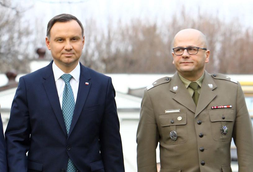 Prezydent Andrzej Duda i generał Jarosław Kraszewski /Stanisław Kowalczuk /East News