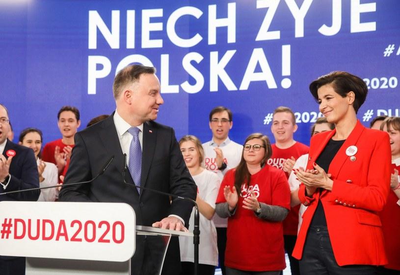 Prezydent Andrzej Duda i Jolanta Turczynowicz-Kieryłło /Andrzej Iwańczuk /Reporter