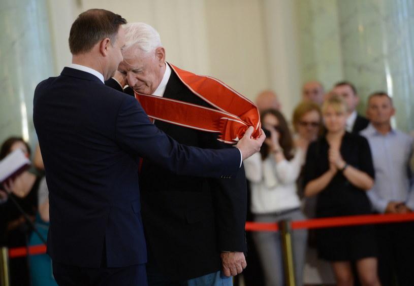 Prezydent Andrzej Duda i Krzysztof Wyszkowski /Jacek Turczyk /PAP
