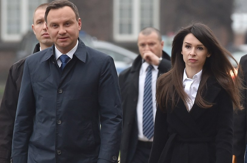 Prezydent Andrzej Duda i Marta Kaczyńska na Wawelu /Jacek Bednarczyk /PAP
