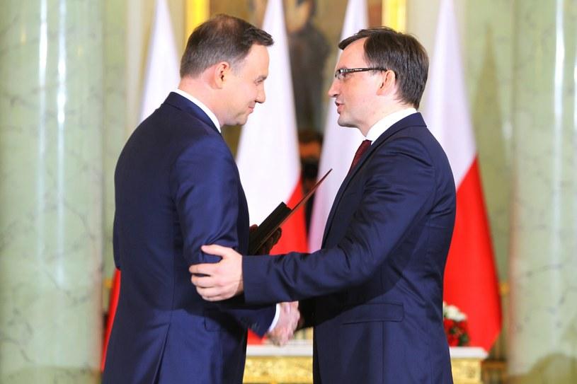 Prezydent Andrzej Duda i minister Zbigniew Ziobro /Stanisław  Kowalczuk /East News