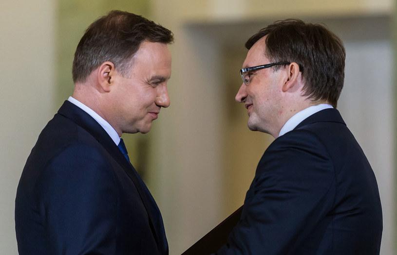 Prezydent Andrzej Duda i minister Zbigniew Ziobro /Grażyna Myślińska /Agencja FORUM