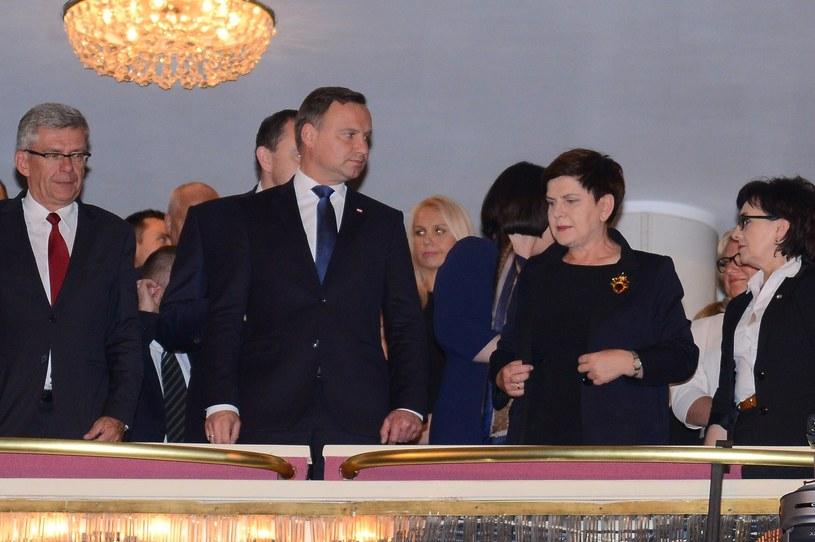 Prezydent Andrzej Duda i premier Beata Szydło /Mateusz Jagielski /East News