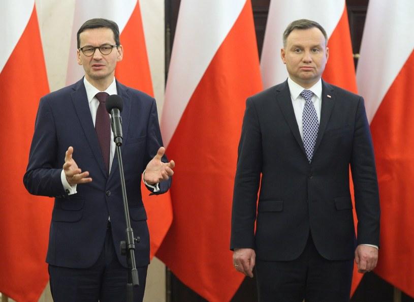 Prezydent Andrzej Duda i premier Mateusz Morawiecki /Stefan Maszewski /Reporter