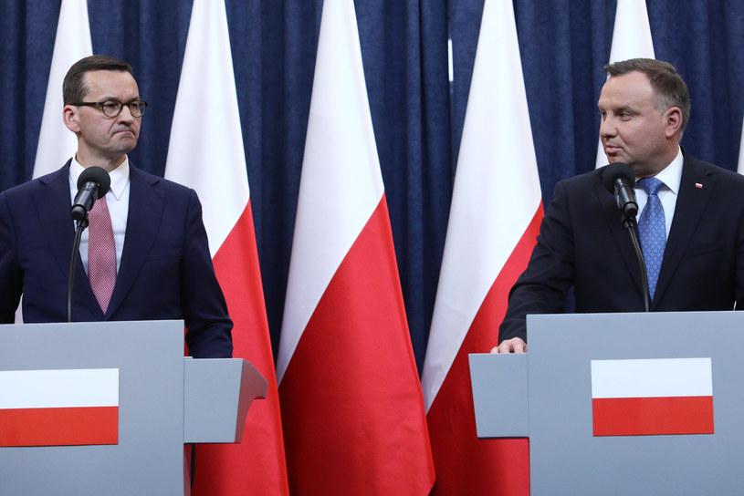 Prezydent Andrzej Duda i premier Mateusz Morawiecki /Tomasz Jastrzebowski/REPORTER /Reporter