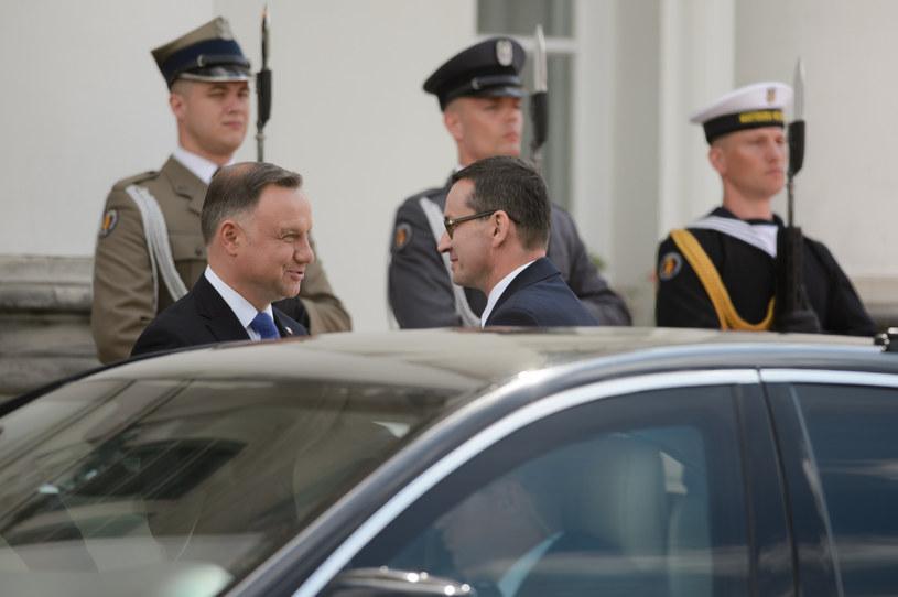Prezydent Andrzej Duda i premier Mateusz Morawiecki /Zbyszek Kaczmarek/REPORTER /Reporter
