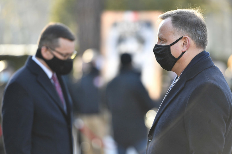 Prezydent Andrzej Duda i premier Mateusz Morawiecki /Mateusz Jagielski /East News