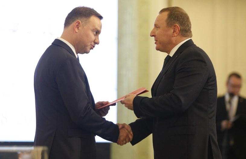 Prezydent Andrzej Duda i prezes Jacek Kurski /Stefan Maszewski /Reporter
