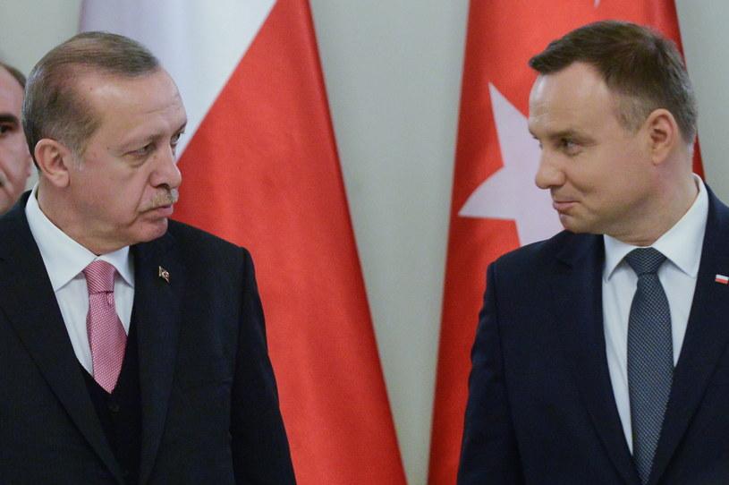 Prezydent Andrzej Duda i prezydent Turcji Recep Tayyip Erdogan /Jakub Kamiński   /PAP