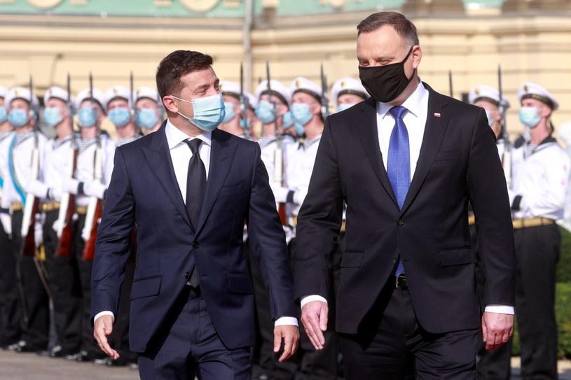 Prezydent Andrzej Duda i prezydent Ukrainy Wołodymyr Zełenski /VALENTYN OGIRENKO  /PAP/EPA