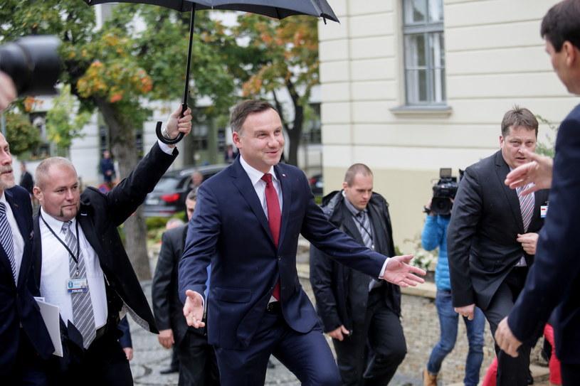 Prezydent Andrzej Duda i prezydent Węgier Janos Ader /Leszek Szymański /PAP