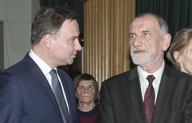 Prezydent Andrzej Duda i profesor Jan Tadeusz Duda /Paweł Dąbrowski /East News