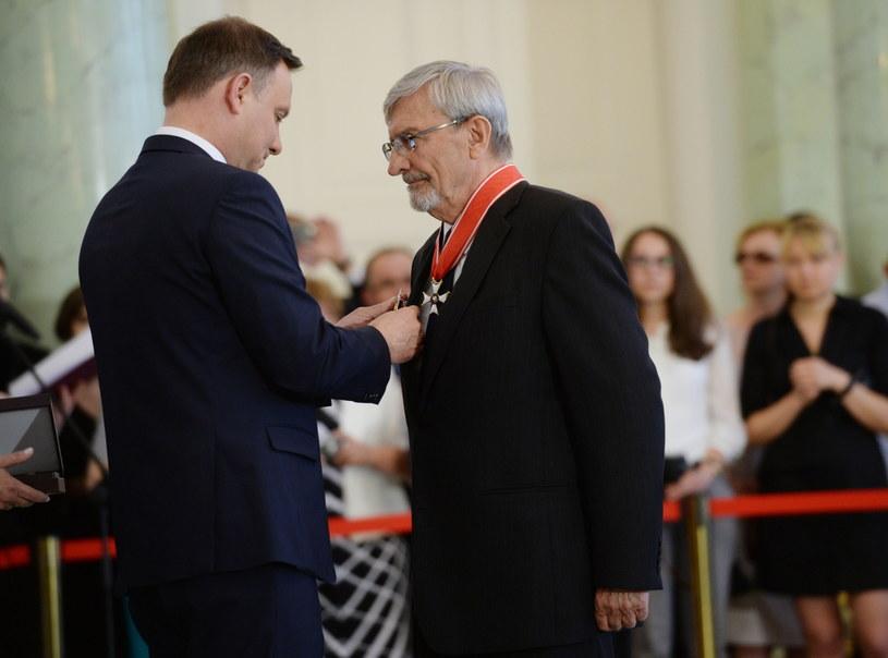 Prezydent Andrzej Duda i Ryszard Bocian /Jacek Turczyk /PAP