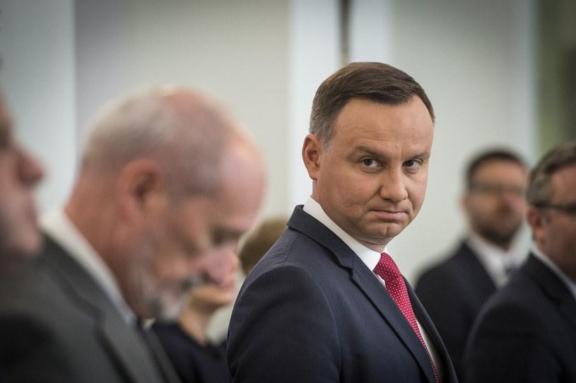 Prezydent Andrzej Duda i szef MON Antoni Macierewicz /Fot. Jacek Domiński /Reporter