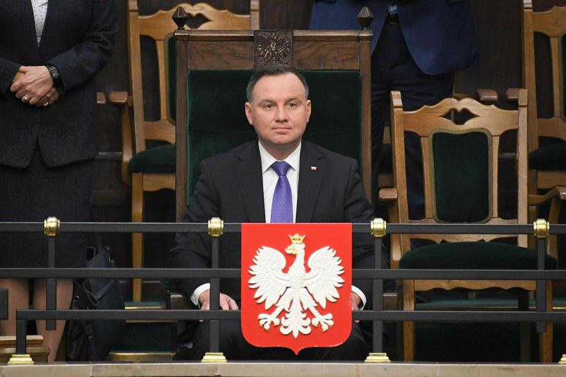 Prezydent Andrzej Duda jest liderem sondaży /Jacek Domiński /Reporter